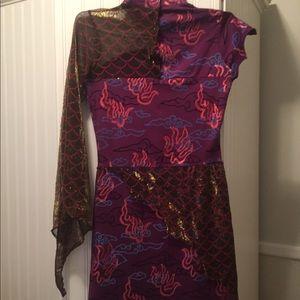 Dresses & Skirts - Unique multi fabric dress